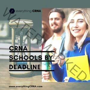 CRNA Schools by Deadline